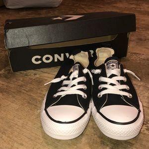 Brand new slip on black converse